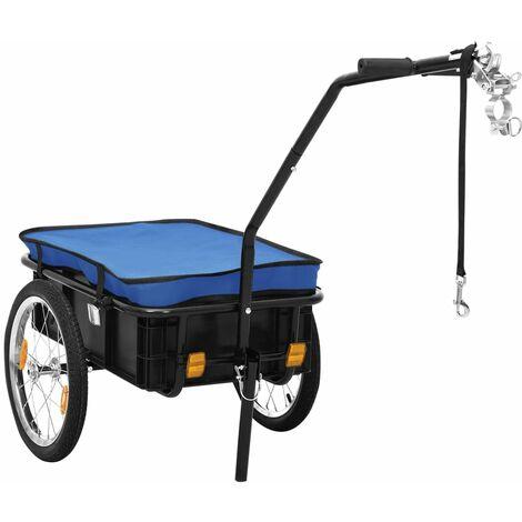 Remolque para bicicletas/carro de mano 155x61x83 cm acero azul