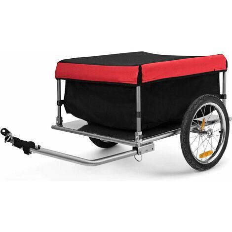 Remolque para Bicicletas Plegable Desmontable Remolque de Equipaje con Ruedas Grande Carro de Carga hasta 40 kg