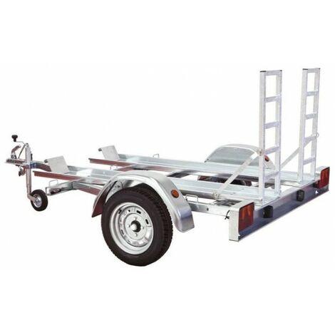 Remolque para quads galvanizado con rampas