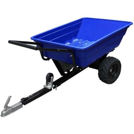 Remorque ATV Chariot Jardin Chargement Puissant Tracteur Roues Tout-Terrain Ferme 295kg