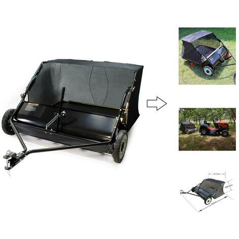 Remorque Balayeuse de jardin 95 cm pour tracteur tondeuse autoportée - Feuilles et pelouses