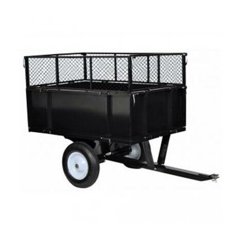 Remorque basculante pour tondeuse tracteur de jardin
