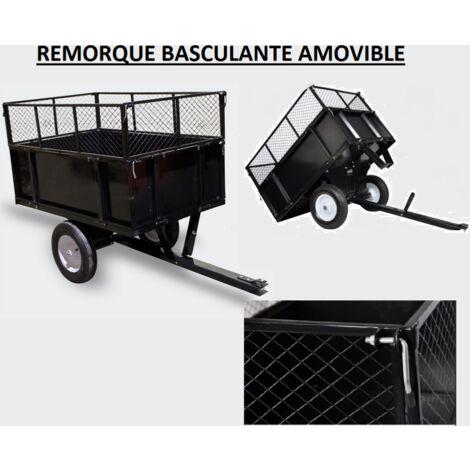 remorque basculante pour tondeuse tracteur de jardin. Black Bedroom Furniture Sets. Home Design Ideas