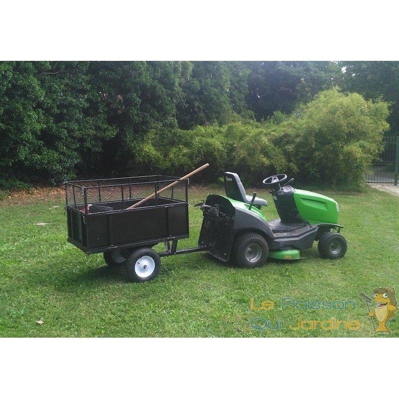 remorque basculante pour tracteur tondeuse auto port e 7410. Black Bedroom Furniture Sets. Home Design Ideas