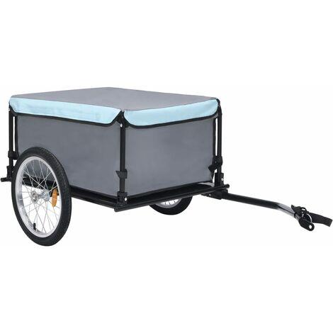 """main image of """"Remorque de bicyclette Noir et bleu 65 kg"""""""