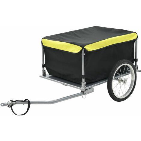 Remorque de bicyclette Noir et jaune 65 kg
