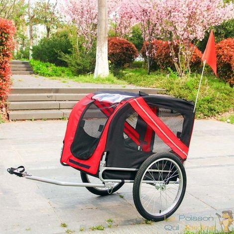 Remorque De Vélo Pour Chiens - Avec Barre De Traction - 40 Kg Max