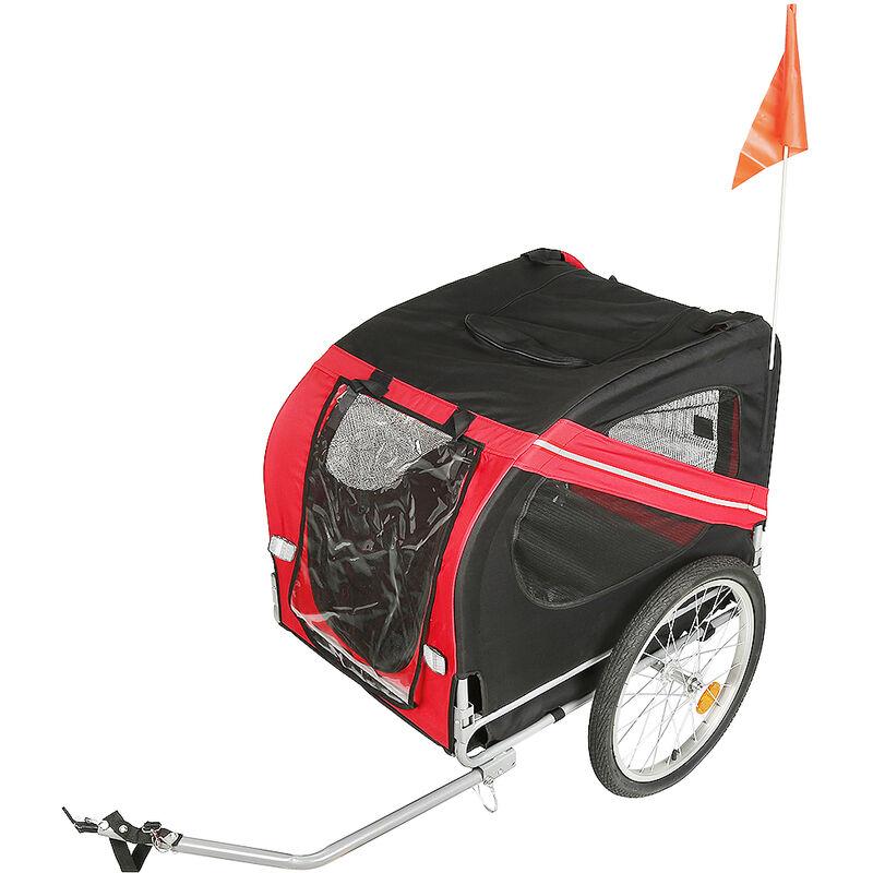Remorque de vélo pour chiens Rouge et noir - Rouge-noir