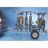 Remorque porte-vélos 2 roues pour 6 vélos Mottez A356S, fixation sur boule d'attelage