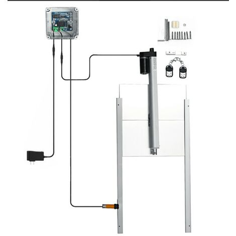 Remote Control Metal Chicken House Door Automatic Bottle Opener Kit UK Plug