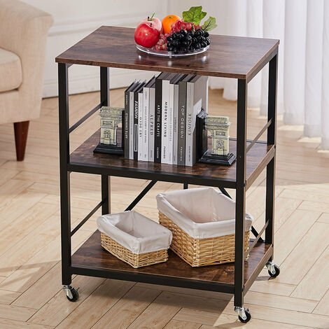 Removable Rustic Coffee End Side Table Desk