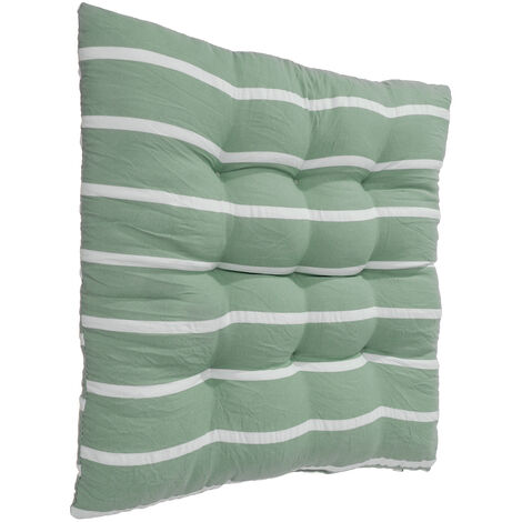 Removable Soft Comfortable Seat Mat Chair Cushion Cushions Winter Cushions with Tie Rope 40x40cm Green