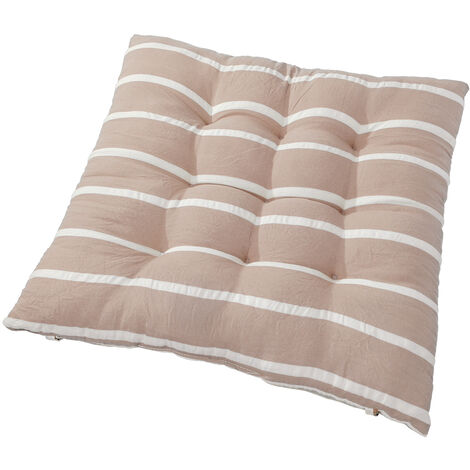 Removable Soft Comfortable Sit Mat Chair Seat Cushions Winter Cushion Cushions With Tie Rope 40x40cm Light Brown