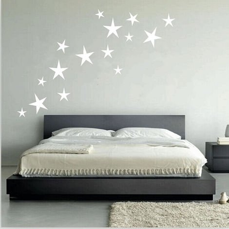 Removable Stickers 15Pcs Star Mural Child Home Bedroom Deco DIY