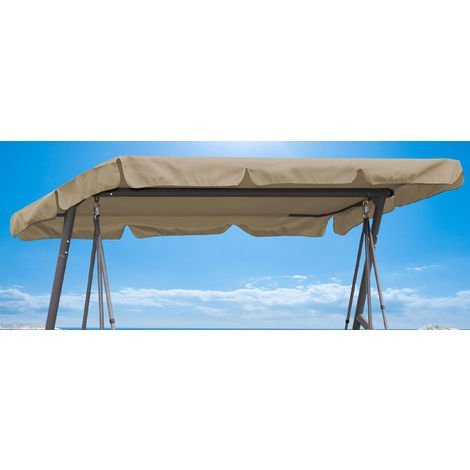 Remplacement Toit Jardin Swing Beige 145x210cm UV 50 3 Places Hollywood Swing Cover