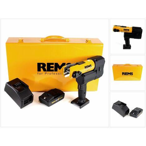 REMS 22V ACC Sertisseuse électro-hydraulique pour sertissage radial avec retour automatique sans fil + 1x Batterie 2,5Ah + Chargeur + Boîtier en acier ( 576010 R220 )