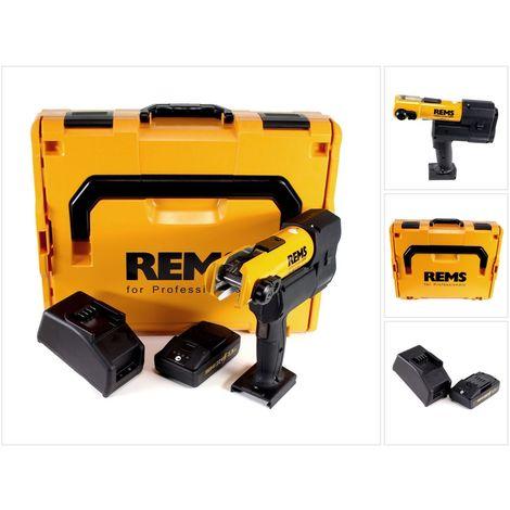 REMS Akku-Press 22V ACC 32kN + 1x Akku 2,5Ah + Schnellladegerät in L-Boxx Set ( 576011 R220 )