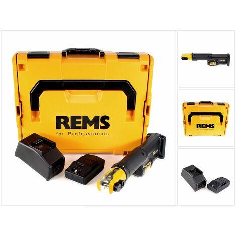 REMS Mini-Press S 22 V ACC Sertisseuse radiale sans fil avec marche forcée + Coffret L-Boxx + 1x Batterie 1,5 Ah + Chargeur ( 578016 R220 )