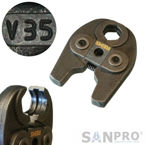 REMS MINI Pressbacken - Kontur V - (Z.B. Viega Kupfer / Edelstahl / C-Stahl)
