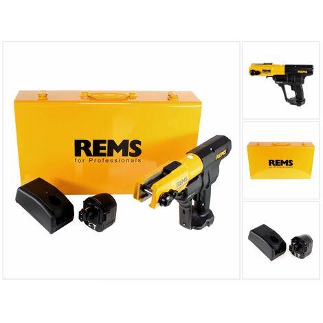 REMS Sertisseuse radiale sans fil Press ACC 14,4 V avec marche forcée + Coffret en tôle d'acier + 1x Batterie 3,0 Ah + Chargeur ( 571014 )