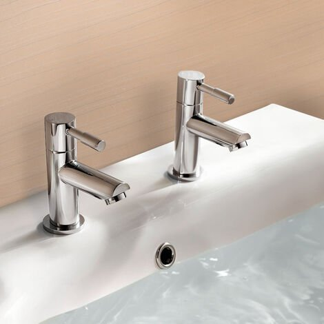 """main image of """"Remy Hot and Cold Basin Taps & Waste Chrome"""""""