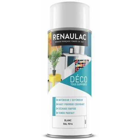 RENAULAC Peinture aerosol 0,4 L blanc mat