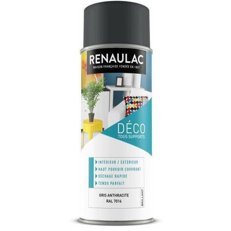 RENAULAC Peinture aérosol 0,4 L gris anthracite brillant
