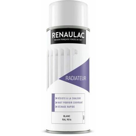 RENAULAC Peinture aerosol speciale radiateur - 0,4 L - Blanc mat