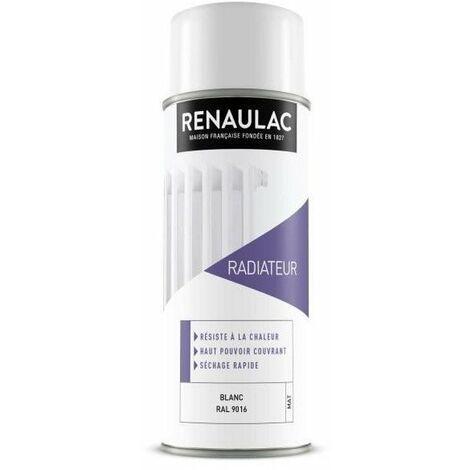 RENAULAC Peinture aérosol spéciale radiateur - 0,4 L - Blanc mat