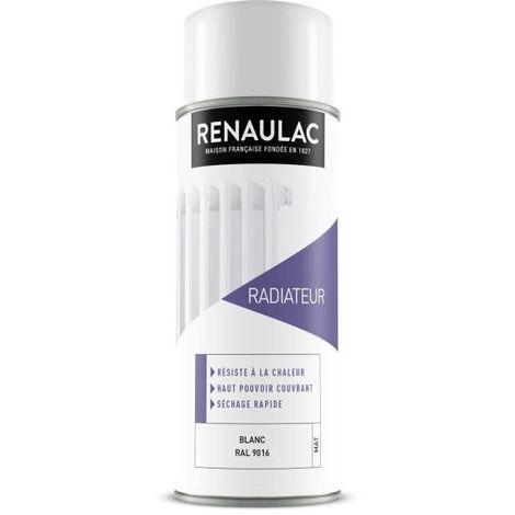 RENAULAC PEINTURE AÉROSOL SPÉCIALE RADIATEUR - 0,4 L - BLANC MAT RE-AER-RADM-0000-0L4