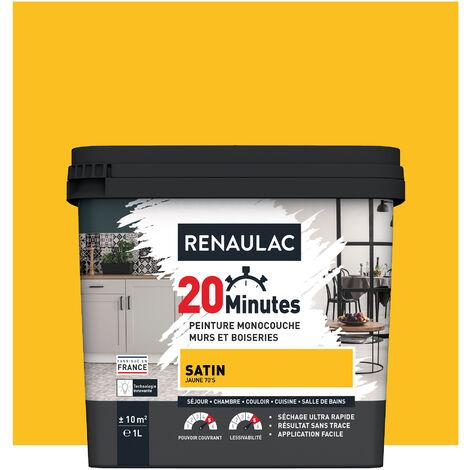 """main image of """"RENAULAC Peinture intérieur couleur monocouche 20 Minutes multi-supports - Blanc Mat - 1L - 10m² - BLANC"""""""