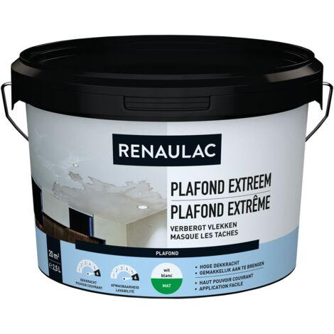 Renaulac Peinture plafond Extrême Blanc - 2,5L