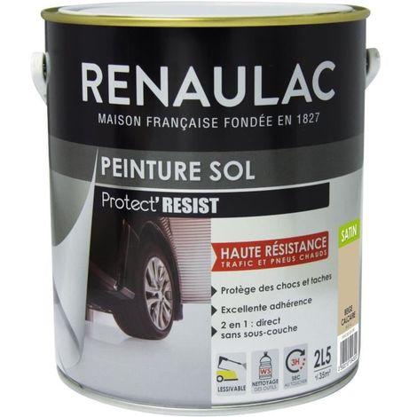 RENAULAC PEINTURE SOL BEIGE CALCAIRE - SATIN - 2,5L - 35M² POT