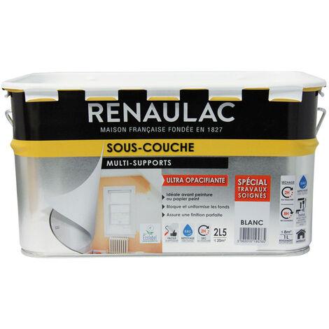Renaulac Peinture Sous-couche Spéciale Multi-supports Blanc 2,5L - 20m²
