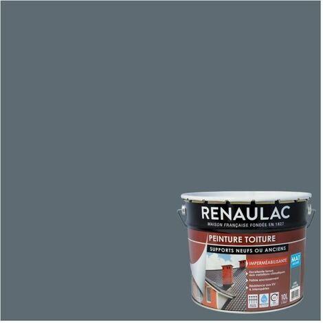 Renaulac Peinture Spéciale Toiture Gris Ardoise - 2L5 - 18m² / pot