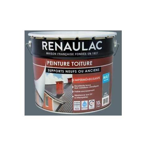Renaulac Peinture Speciale Toiture Gris Ardoise - 2L5 - 18m2 / pot