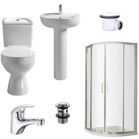 Rene 800mm Shower Suite - size 800mm - color