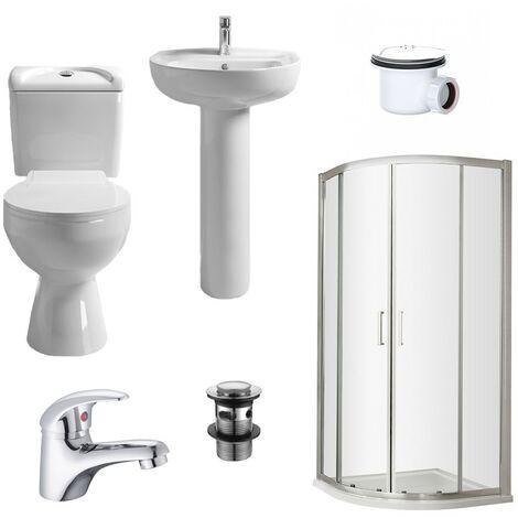Rene 900mm Shower Suite - size 900mm - color