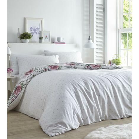 Renee Heather Double Duvet Cover Set Bedding Quilt
