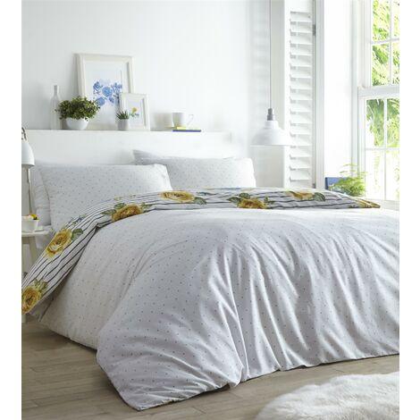 Renee Lemon Double Duvet Cover Set Bedding Quilt