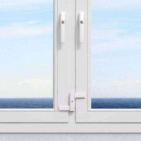 Renfort de fenêtre sans percer Abus 2530 Blanc - Blanc