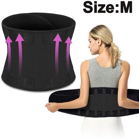 Renfort dorsal pour hommes et femmes - Conçu pour soutenir le bas du dos - Ceinture de soutien lombaire anti-dérapante réglable respirante, M