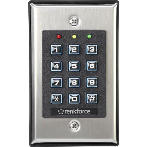 Renkforce 1582597 Serrure à code montage en saillie, encastré avec clavier éclairé