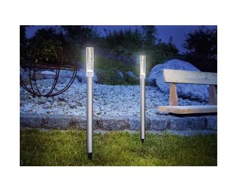 Renkforce lampada solare da giardino twin do103 kit da 2 led bianco