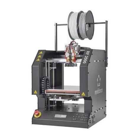 Renkforce RF2000v2 Dual Imprimante 3D Appareil prêt à lemploi Banc dimpression chauffant