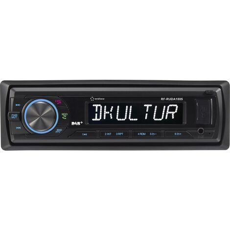 Renkforce RUDAB-1805 Autoradio DAB+ Tuner, inkl. DAB-Antenne, Bluetooth®-Freisprecheinrichtung X578111