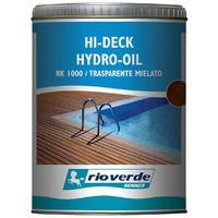 Renner rk 1000 750ml trasparente mielato olio per decking bordi piscina deck verande passerelle
