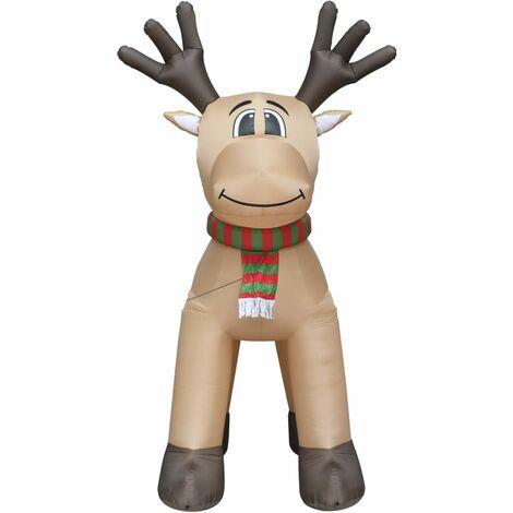 Reno de Navidad inflable con LED IP44 500 cm XXL