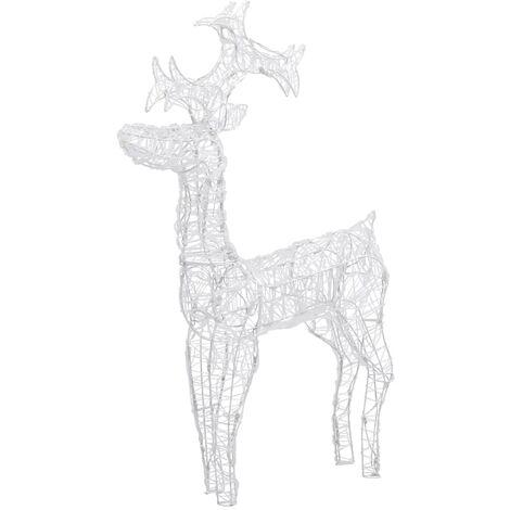 Reno decorativo navideño 90 LED 60x16x100 cm acrílico