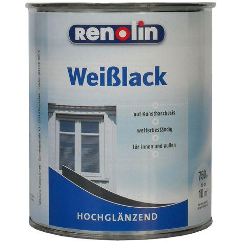 Renolin Weißlack hochglänzend Weiß 0,75 L11091000_050